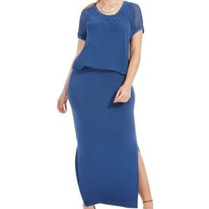 JUNAROSE Jalley Overlay Maxi Dress